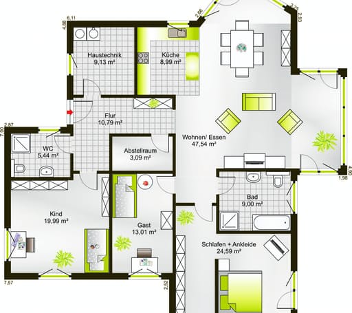 Bungalow 152 WD floor_plans 0