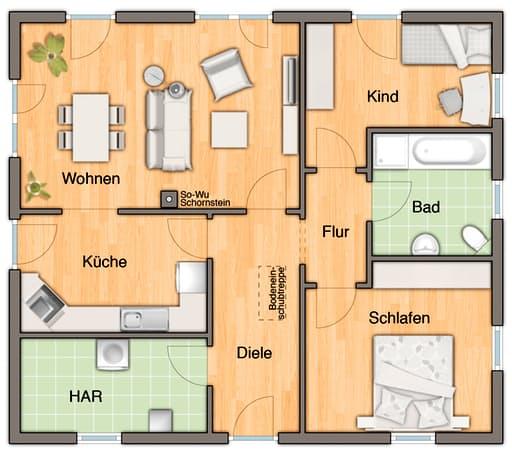 Bungalow 92 Var. Trend floor_plans 0