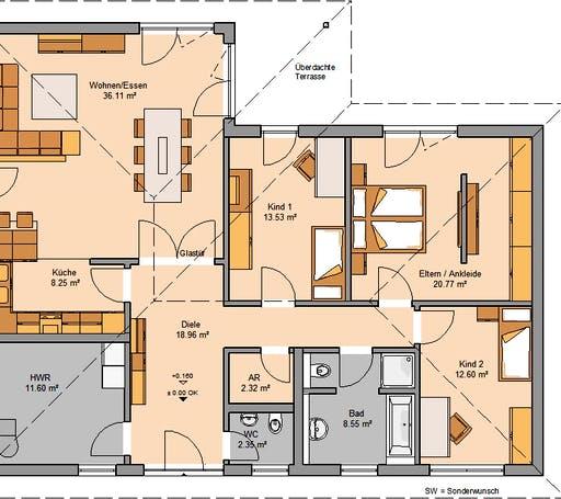 Kern Haus - Bungalow Balance Floorplan 1