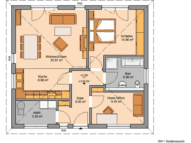 Kern Haus - Bungalow Easy Floorplan 1
