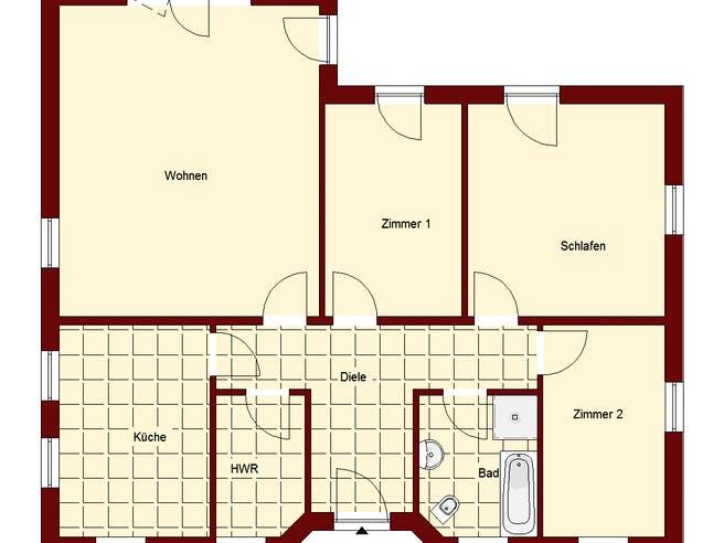 Bungalow Falkensee 111 Floorplan 1