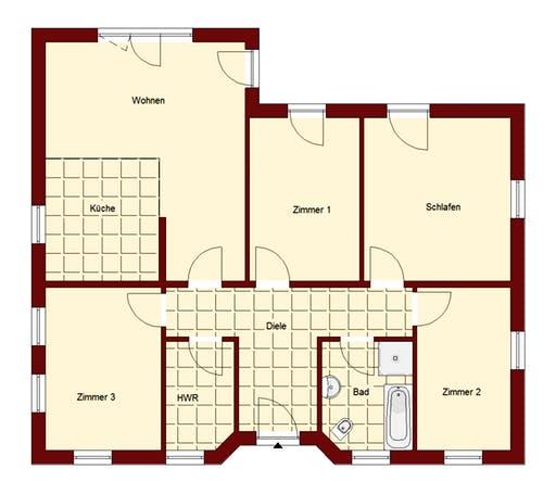Bungalow Falkensee 111 Floorplan 2