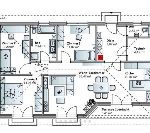 Bungalow Family VII Emotion Floorplan 1