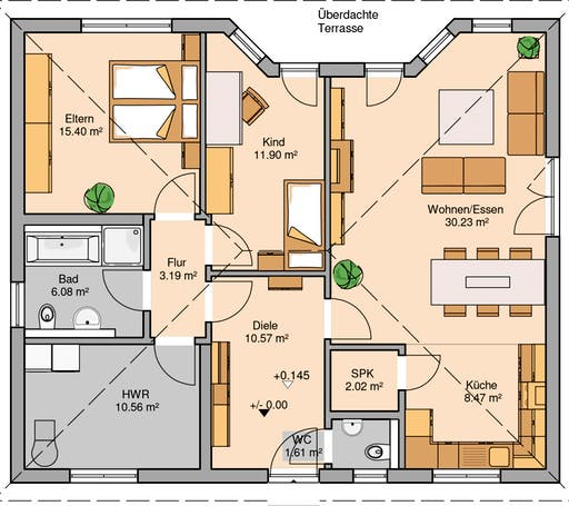 Kern Haus - Bungalow Flair Floorplan 1
