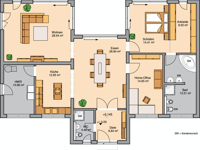 Bungalow Fokus Floorplan 1