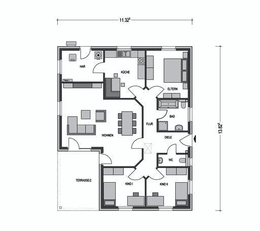 Bungalow M3000 Floorplan 1