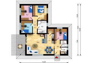 Bungalow Mallorca Floorplan 1