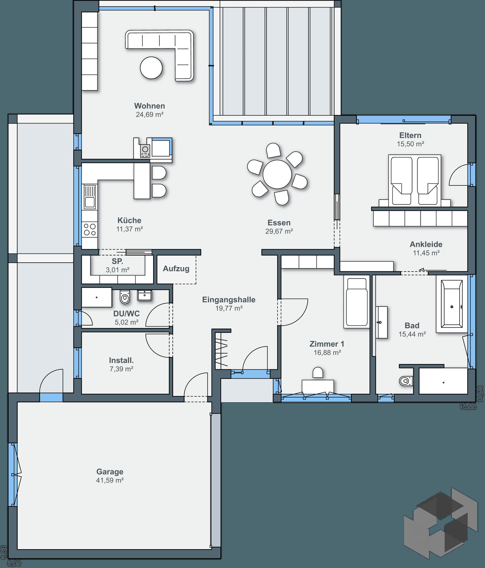 Ausstellungshaus mannheim bungalow von weberhaus for Floor plans for 160 000