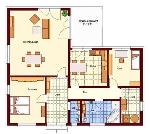 Bungalow Petershagen Floorplan 2