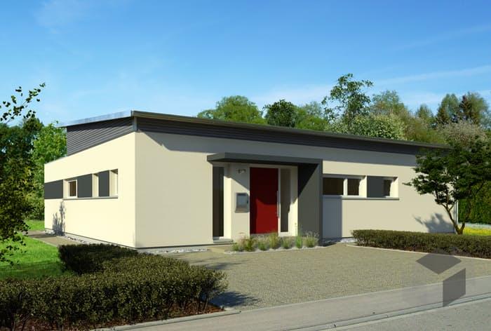 Fertighaus bungalow pultdach  Bungalow Pultdach von Baufritz | komplette Datenübersicht ...