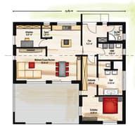 Bungalow Pultdach floor_plans 0
