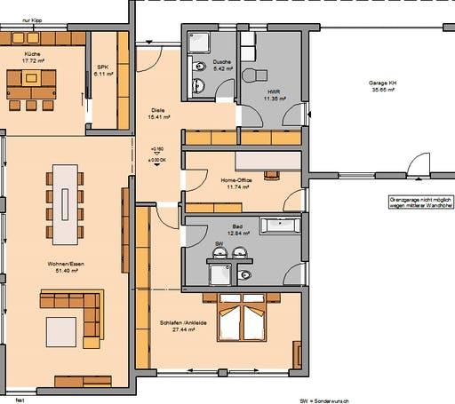 Kern Haus - Bungalow Purea Floorplan 1