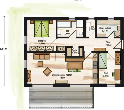 Bungalow Satteldach floor_plans 0