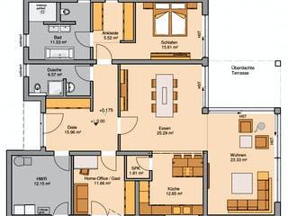 Bungalow Select von Kern-Haus Grundriss 1