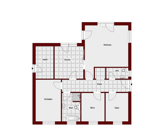 Bungalow Teltow Floorplan 1