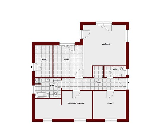 Bungalow Teltow Floorplan 2