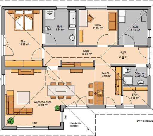 Kern Haus - Bungalow Vita Floorplan 1