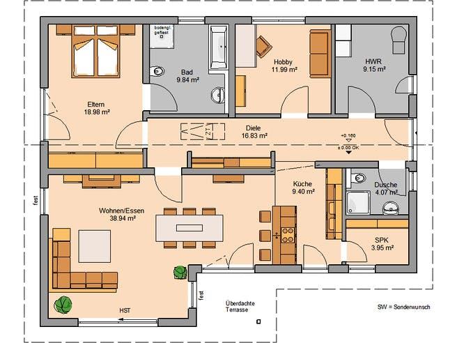 Kern Haus - Bungalow Vita PD Floorplan 1