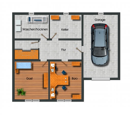 Bungalow Vollunterkellert Mit Garage Floor_plans 1. Grundrisse ...