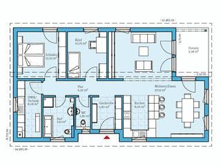 Bungalow 109 von Hanse Haus Grundriss 1
