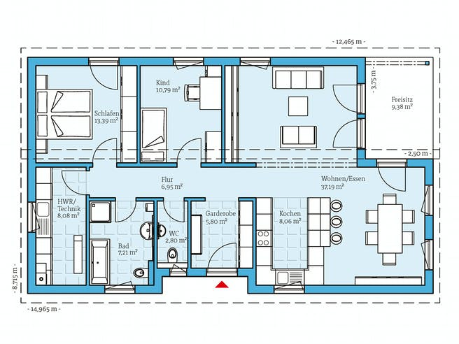 Hanse - Bungalow 109 Floorplan 1