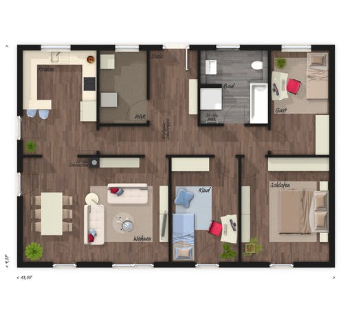 Bungalow 110 Elegance Floorplan 1