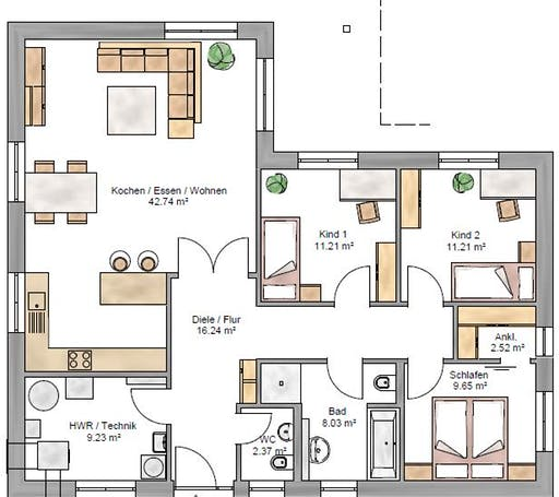 Bungalow 113 Floorplan 1