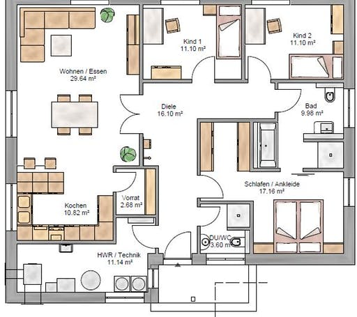 Bungalow 123 Floorplan 1