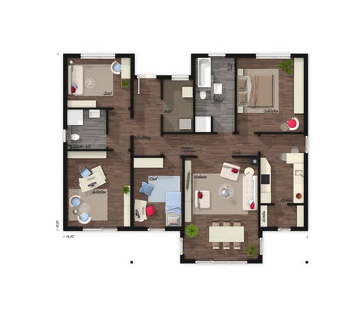 Bungalow 128 Elegance Floorplan 1
