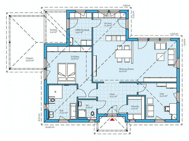Hanse - Bungalow 133 Floorplan 1