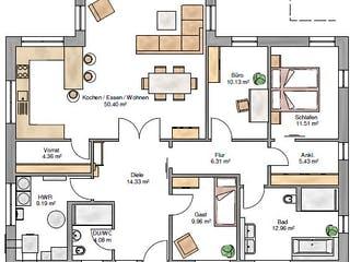 Bungalow 139 von Suckfüll - Unser Energiesparhaus Grundriss 1