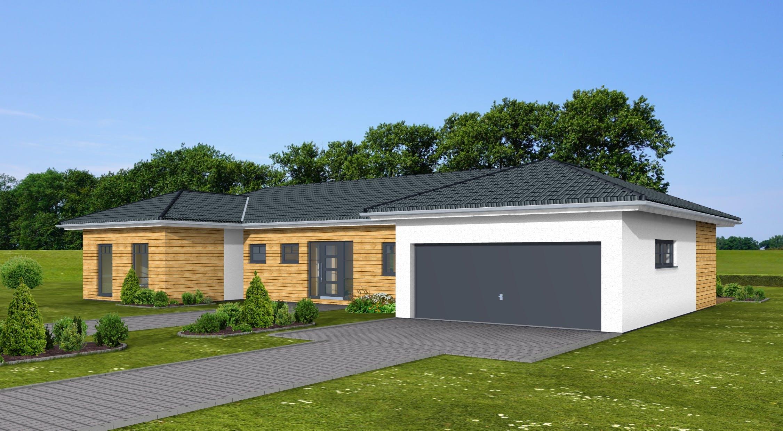 Bungalow bauen mit garage  Bungalow 163 von Zimmermann-Haus | komplette Datenübersicht ...