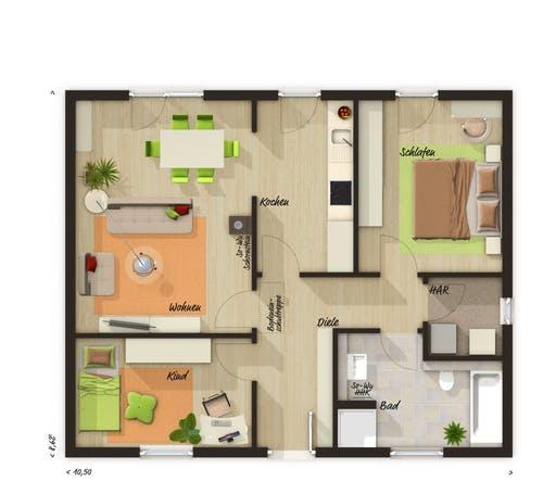 Bungalow 78 Trend Floorplan 1