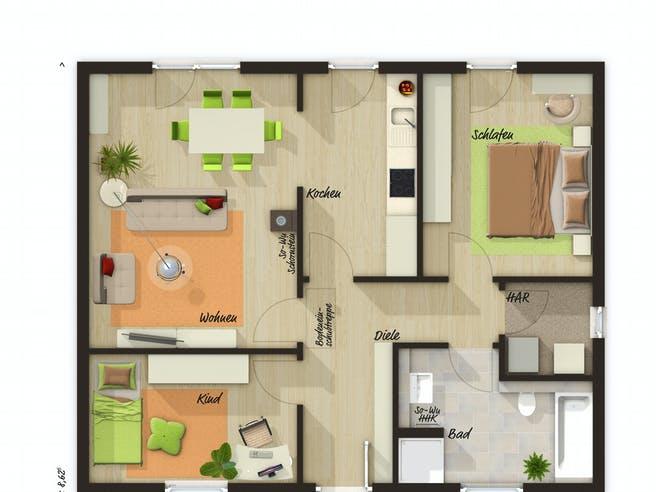 Bungalow 78 von Town & Country Haus Grundriss 1