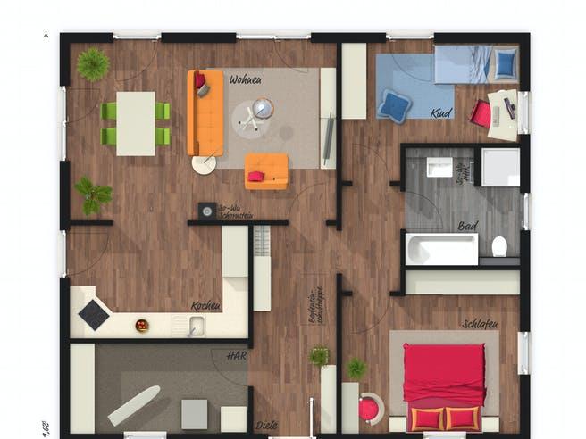 Bungalow 92 von Town & Country Haus Grundriss 1