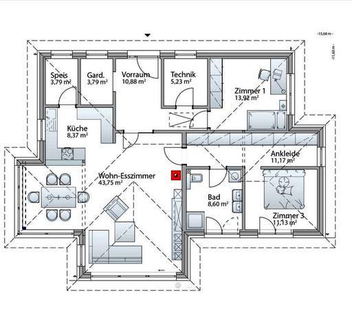 Bungalow S141 Small Floorplan 1