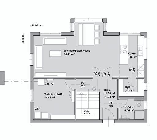 Bittermann & Weiss - Referenzhaus 2 Floorplan 1