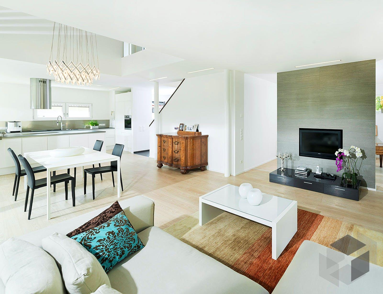 referenzhaus 4 von bittermann weiss holzhaus komplette. Black Bedroom Furniture Sets. Home Design Ideas