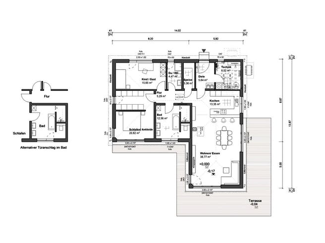 bauen.WIEWIR Lessingstraße 129 PD Floorplan 1