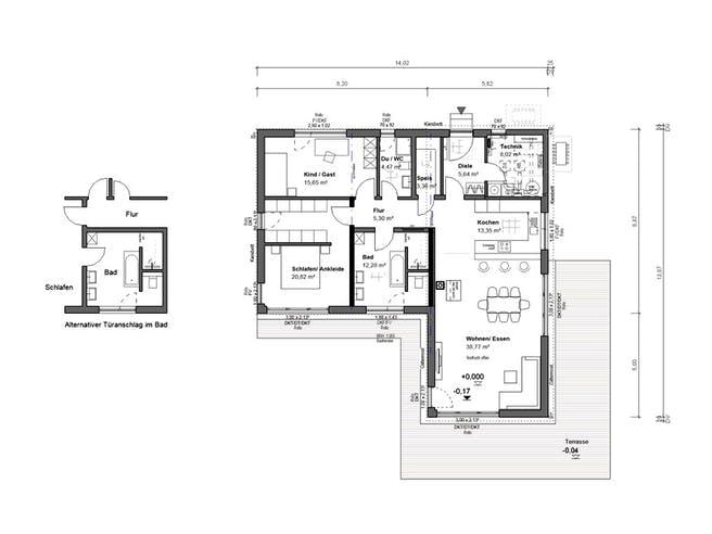 bauen.WIEWIR Lessingstraße 109 WD Floorplan 1