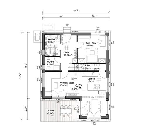 bauen.WIEWIR Schlossallee 151 Floorplan 1