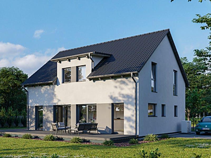 Schlichtes Haus mit Satteldach von bauen.wiewir