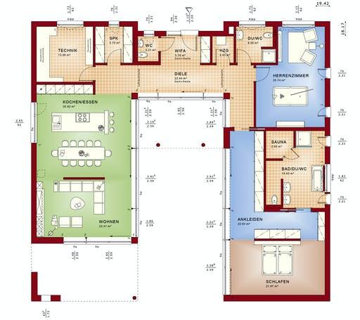 Bien Zenker Ambience 209 FD Floorplan 1