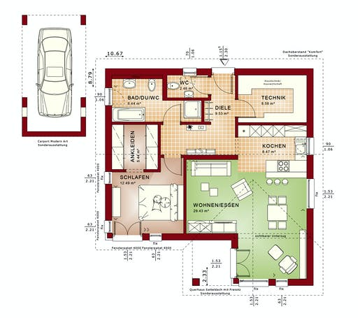 Bien Zenker Ambience 77 V2 Floorplan 1