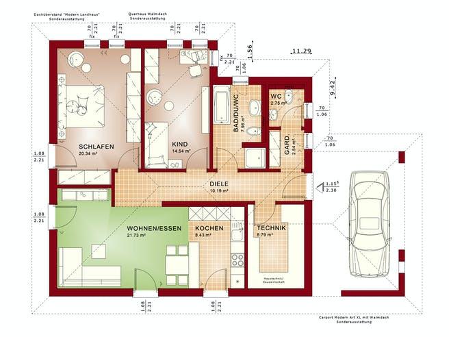Bien Zenker Ambience 88 V3 Floorplan 1