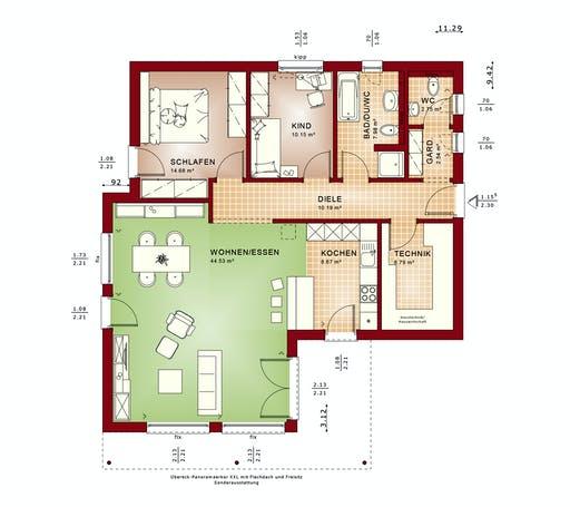 Bien Zenker Ambience 88 V4 Floorplan 1