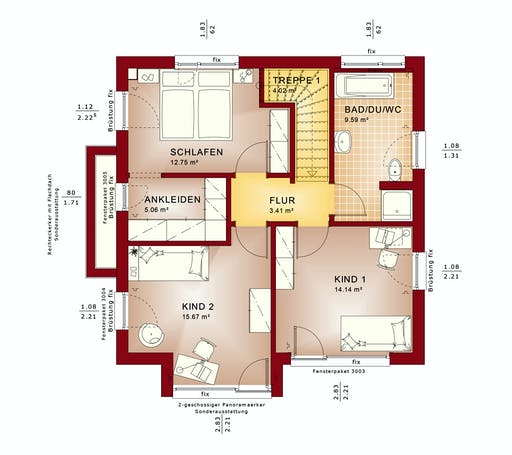 Bien Zenker Evolution 124 V9 Floorplan 2