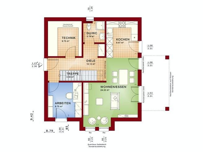 EVOLUTION 136 V3 von Bien-Zenker Grundriss 1