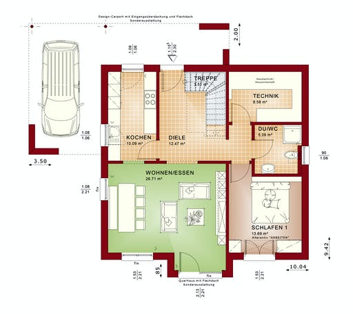 Bien Zenker Evolution 152 V7 Floorplan 1