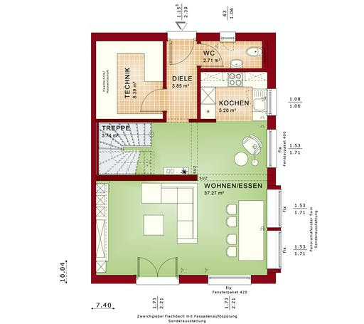 Bien Zenker - Celebration 122 V2 L Floorplan 1